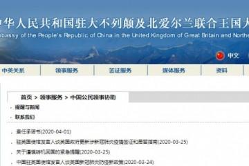 中国驻英大使馆将安排小留学生包机回国